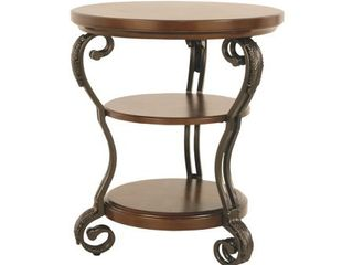Nestor Medium Brown Chair Side End Table  Retail 125 99
