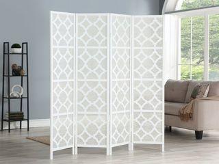 Quarterfoil Infused Diamond Design 4 Panel Room Divider  Retail 169 99