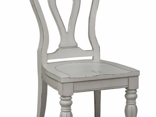 Magnolia Manor Antique White Splat Back Side Chair  Set of 2  Retail 381 49