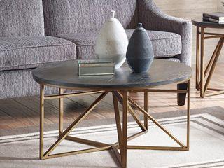 Madison Park Kayden Antique Bronze Coffee Table  Retail 277 99