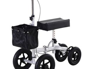 HOMCOM Knee Scooter with Basket Storage  Walker Mobility During Medical Rehabilitation   Injury  Folding for Transport  Retail 201 99
