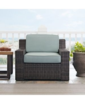Beaufort Arm Resin Wicker Chair with Mist Cushion