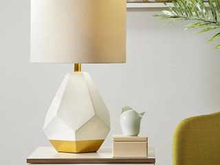 Urban Habitat Facet White  Gold Table lamp