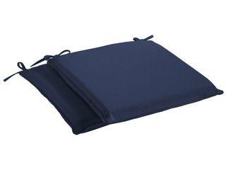 Humble   Haute Sunbrella Canvas Navy Indoor  Outdoor Cushion  Set of 2