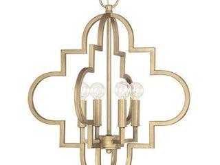 4 light Brushed Gold Pendant light
