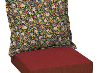 Arden   Artisans Cecelia Floral Deep Seat Set   47 in l x 23 in W x 8 in H