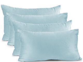 Four Nestl Bedding Solid Microfiber Soft Velvet Throw Pillow Cover
