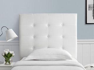 Villa Classic   Tufted   Plush College Dorm Headboard   White  Retail 111 49