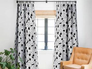 Watercolor Dots Blackout Curtain Panel