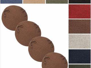 Wool Reversible Chair Pads  Set of 4