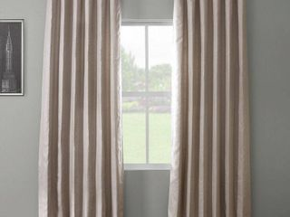 Exclusive Fabrics  amp  Furnishings French linen Rod Pocket 50  x 96  Curtain Panels