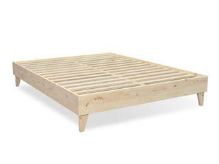 Kotter Home Solid Wood Mid Century Platform Bed  Cali King   Retail 393 49