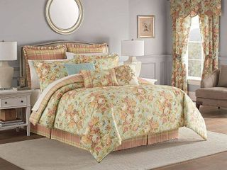 Waverly Spring Bling 4 Piece Queen Comforter Set  Retail 180 23