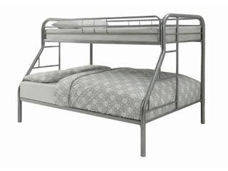 Novogratz Maxwell Grey Twin Full Metal Bunk Bed  Retail 278 99