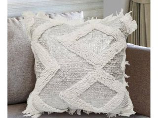 Silver Decorative Pillow