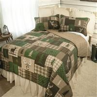 Your lifestyle by Donna Sharp Green Forest King Quilt Set  Retail 98 49