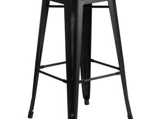 Backless Modern Industrial 30 In  Metal Bar Stools Set of 4  Retail 216 99