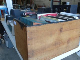 Wood Box Full of Misc Books