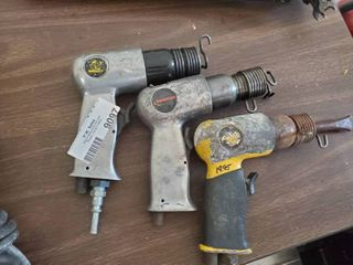 lot of 3 Pneumatic Air Hammers
