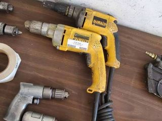 DeWalt Drywall Screwdriver and DeWalt Electric Drill