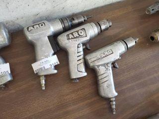 lot of 3 ARO Pneumatic Drills