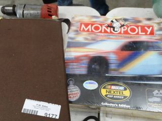 Monopoly Nascar Edition and Checkered Board