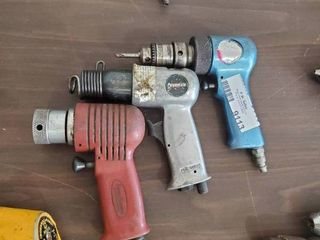lot of Pneumatic Hammers and Drill