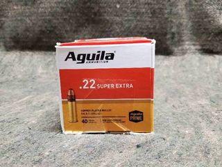 Box of 500 Aguila Super Extra  22 long Rifle Ammo  40 Grain