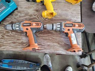 lot of 2 Ridgid Drills