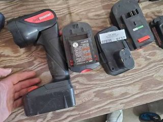 Drill Master Work light with 3 Misc  Batteries