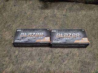 2 boxes of Blazer Brass 9mm luger 115 grain FMJ  50 Rounds per box