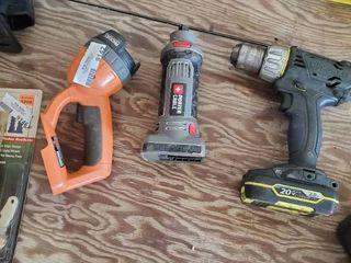 Ridgid Work light  Kobalt Compact Drill and Porter Cable Rotary Saw