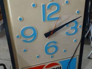 Vintage Pepsi Sign Clock