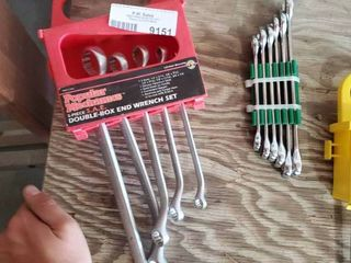 Double Box End Wrench Set and Set of Combo Wrenches