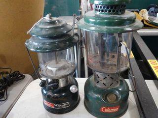 lot of 2 Coleman lanterns