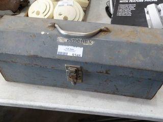 Metal Toolbox with Misc  Handtools
