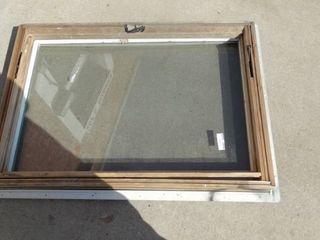 Window with Wood Frame