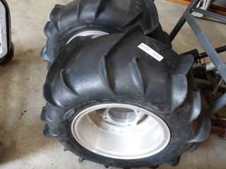Set of 2 ATV Wheels and Tires