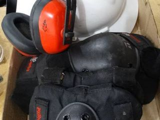 Hardhat  Knee Pads and Hearing Protection