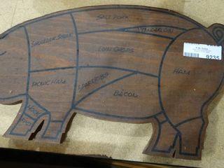 Wood Pig Decor