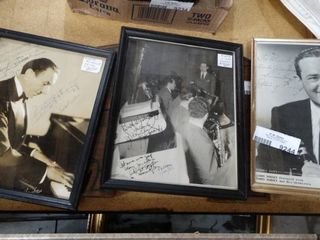 Signed Rudolf Friml Photograph and 2 Jimmy Dorsey Signed Photograph