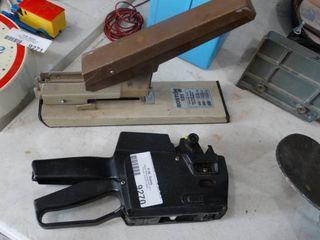 Bostich stapler and Inventory Price gun