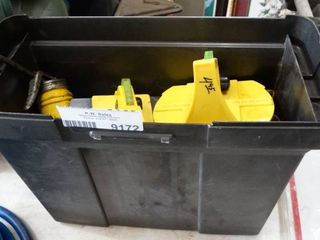 Plastic Tote with Misc Tools and Hardware