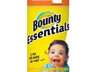 12 rolls of Bounty Basic White Paper Towels  Regular Roll  1ct