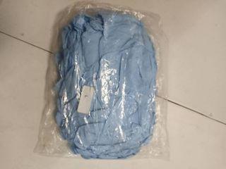 large blue exam gloves approximately 50