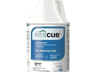 Rescue 1 Step Disinfectant Cleaner Concentrate Non toxic   non irritating Gallon
