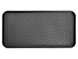 Ottomanson Multi Purpose Indoor   Outdoor Waterproof Tray  30  X 15  Black