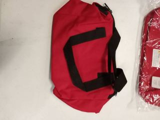 large lot of red multi purpose bags