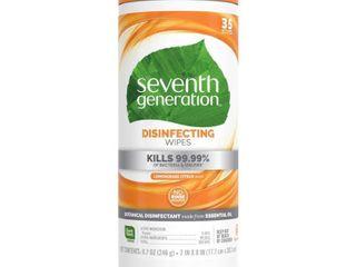 Seventh Generation lemongrass Citrus Disinfecting Wipes