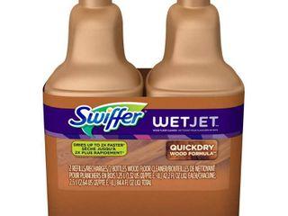 Swiffer WetJet Wood Floor Cleaner Solution Refill   2pk